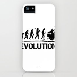 Gist Evolution Of The Drummer Print Drumming Present Print iPhone Case