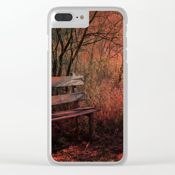 Days Gone By, Forest Landscape Clear iPhone Case