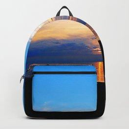 Sunset Balcony silhouette Backpack