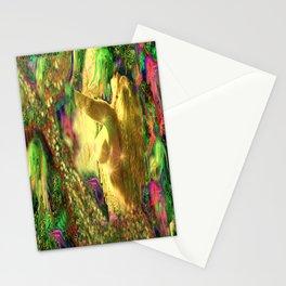 Nude mermaid & jelly fish ladykashmir Stationery Cards