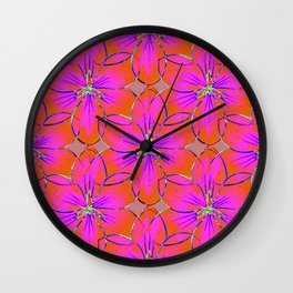 Flower Sketch 4 Wall Clock