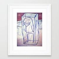 frozen Framed Art Prints featuring frozen by starheadboy