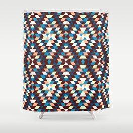 Native Diamond Triangle Pattern Shower Curtain
