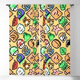 Super Mario Bros. 3 | sand | items pattern Blackout Curtain