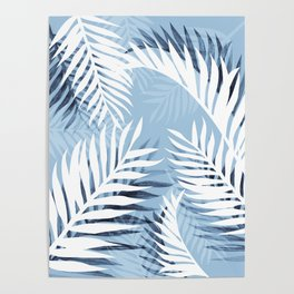 Tropical bliss - chambray blue Poster