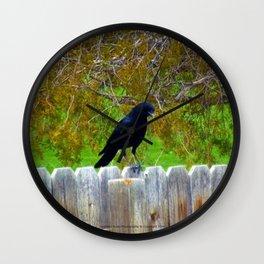 The Crow (Soul Seeker) - Jeronimo Rubio Photography 2016 Wall Clock
