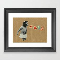 Blow it away. Framed Art Print