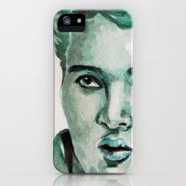 Elvis  Pop Art Watercolor Portrait Painting iPhone Case