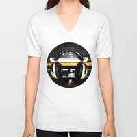 old school V-neck T-shirts featuring Old School by Anand Brai