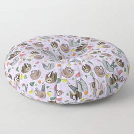 Pretty Sloth Pattern Floor Pillow