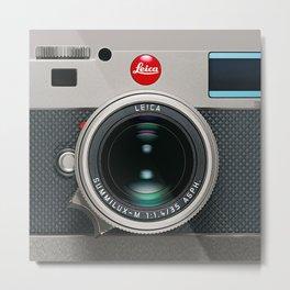Leica Camera M9 Silver Metal Print