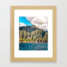 Na Pali, Kauai, Hawaii, Portrait Framed Art Print