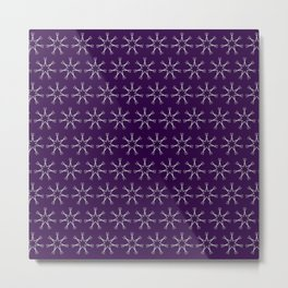 Scissors Star (royal purple) Metal Print