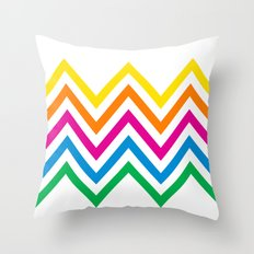 Chevron Sherbet Throw Pillow