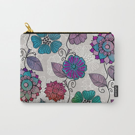 Flower Flow #2 Carry-All Pouch