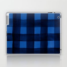 Buffalo Plaid Watercolor in Blue Laptop & iPad Skin