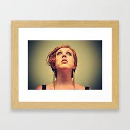 POOR LITTLE RICH GIRL Framed Art Print