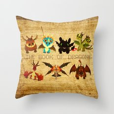 The Book of Dragons Throw Pillow