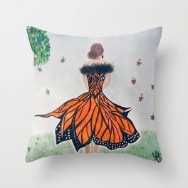 Monarch Queen Throw Pillow