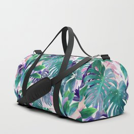 Pastel Summer Tropical Emerald Jungle Duffle Bag