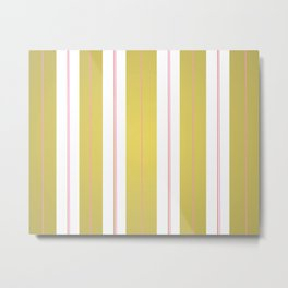 Golden and pink stripes Metal Print