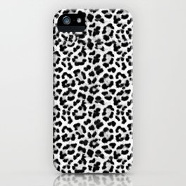 Leopard Print Black-and-White iPhone Case