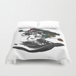 Life in These Boots Duvet Cover