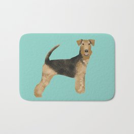 Airedale Terrier dog art cute gifts for dog lover pet friendly airedale terriers Bath Mat