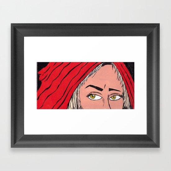 Red Secret Framed Art Print