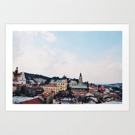 OVERLOOKING THE OLD TOWN Art Print