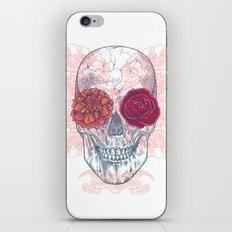 Double Flowers Skull iPhone & iPod Skin