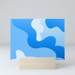 Blue Swirling Abstract Modern Art Simple Decor Mini Art Print
