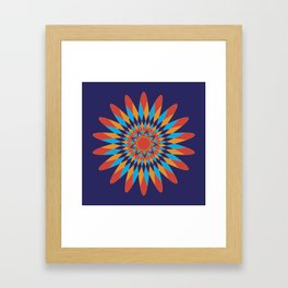 Kaleidoscope Quilt Framed Art Print