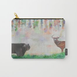 The relationship between a bear and a deer Carry-All Pouch