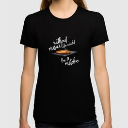 Without Music, Life Would Be a Mistake-Friedrich Nietzsche-vinyl records T-shirt