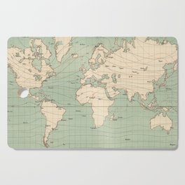 Vintage World Isotherm Map (1850) Cutting Board