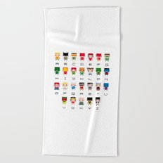 Superhero Alphabet Beach Towel