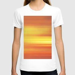 orange abstract T-shirt