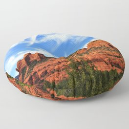 Red Rocks of Sedona Floor Pillow