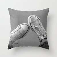 the perks of being a wallflower Throw Pillows featuring Wallflower by PopPopPhotography