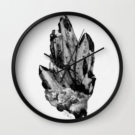 gray skies crystal cluster Wall Clock