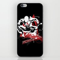 fitness iPhone & iPod Skins featuring Mejor Fitness Man by Halucinated Design