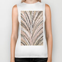 Rose Gold and Glitter Brushstroke Bursts Biker Tank