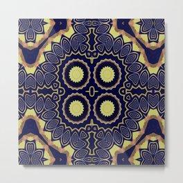 Basically Yellow Pattern 8 Metal Print