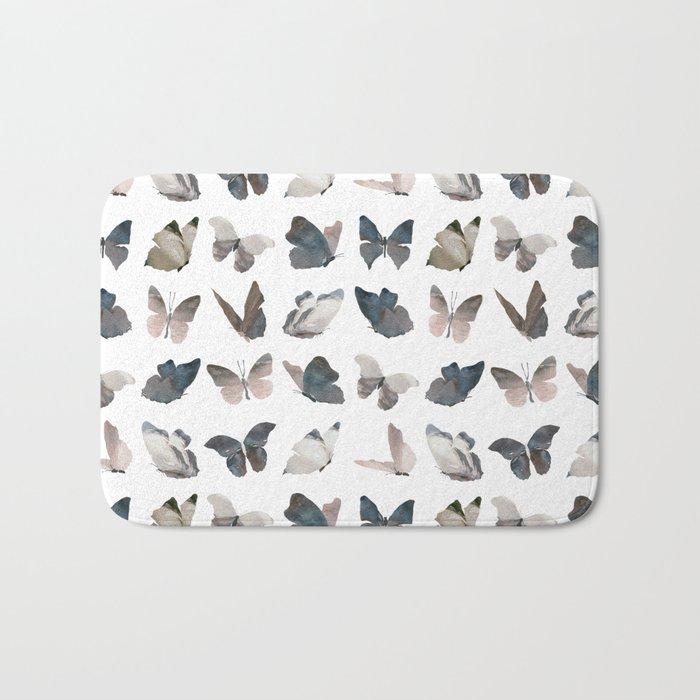 Butterfly Pattern 8 X 8 Bath Mat