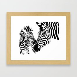 Love Stripes Framed Art Print
