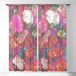 Yummy Gummies Sheer Curtain