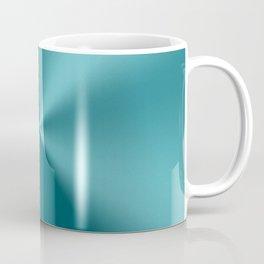 Teal-green metallic stainless steel print Coffee Mug