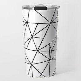 Geometric Abstract - Triangles #2 (Black) Travel Mug