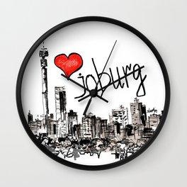 I love Joburg Wall Clock